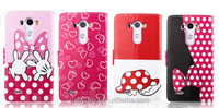 Cute Bowknot Flip Leather Stand Wallet Case Cover For LG G3 / LG G4 Phone