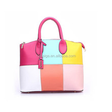 2015 Paris New Designing leather unique lady bags in mixed color