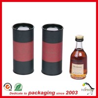 Custom private label stretch lids luxury wine paper tubes manufacturers decorative boxes supplier