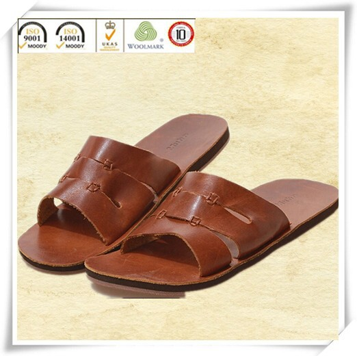 Leather Slipper Sandals