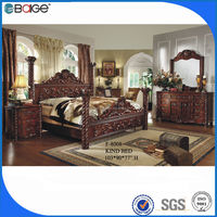 F-8008 Black king size round head diamond leather bed