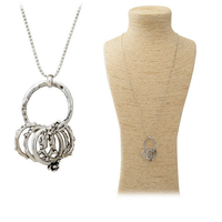 OU4822 beats.by dr.dre,women accessories china,Ball Chain Silver And Gold Rings Pendant Necklace