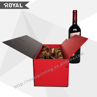 Factory wholesale fashion design wine gift box,wine bottle gift box,gift box for wine