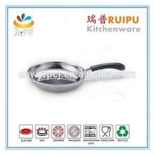 As seen on tv non-stick induction stainless steel potobelo cookware sets kitchen cooking cookware stainless steel fry pan