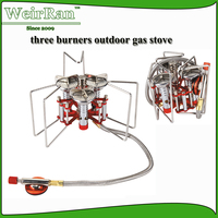 (7265) 5800W powerful three burners high quality outdor cooking stove parts camping gas