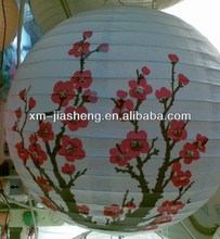 "2013 best fashion 16"" steel wire frame patterned paper lantern of China"