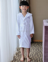 beautiful cotton velour white hotel full length night gown for kids