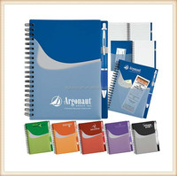 2015 Cheap spiral wave pocket buddy journals note book for gifts