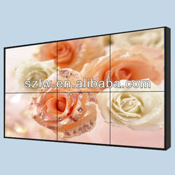 video wall, ultra narrow bezel 5.7mm and 1920x1080 high resolution 4K display supported