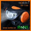 SORBO Rechargeable Battery Powered LED Headlight Portable High Brightness Mini Flashlight Camping Lamp