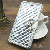 Sales Promotion Case for iPhone 6,for iPhone 6 Superior Bling Diamond Phone Leather Case