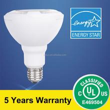 UL&Energy Star Listed PAR30 Lamp 11.5W 950lm 40D beam angle 4000K CRI>80