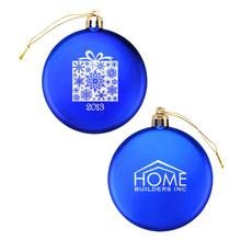 Flat Snowflake Ornament Promotional Wholesale Shatterproof Christmas Ball Ornament