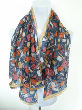 Mulberry silk scarf top selling young girls scarf