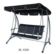 3 seat metal garden swing (QF-6306)