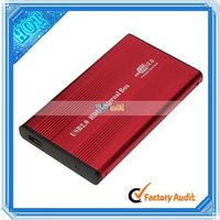 """2.5"""" Red USB 2.0 IDE 2.5 HDD HD Hard Drive Case (NTS01RE)"""