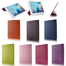 """Tri-Folding Stand Litchi pattern Leather Case for iPad Pro with wake up & sleeping function, For ipad pro 12.9"""" smart case"""