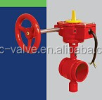 FM UL fire protection Grooved type Butterfly Valve 300PSI