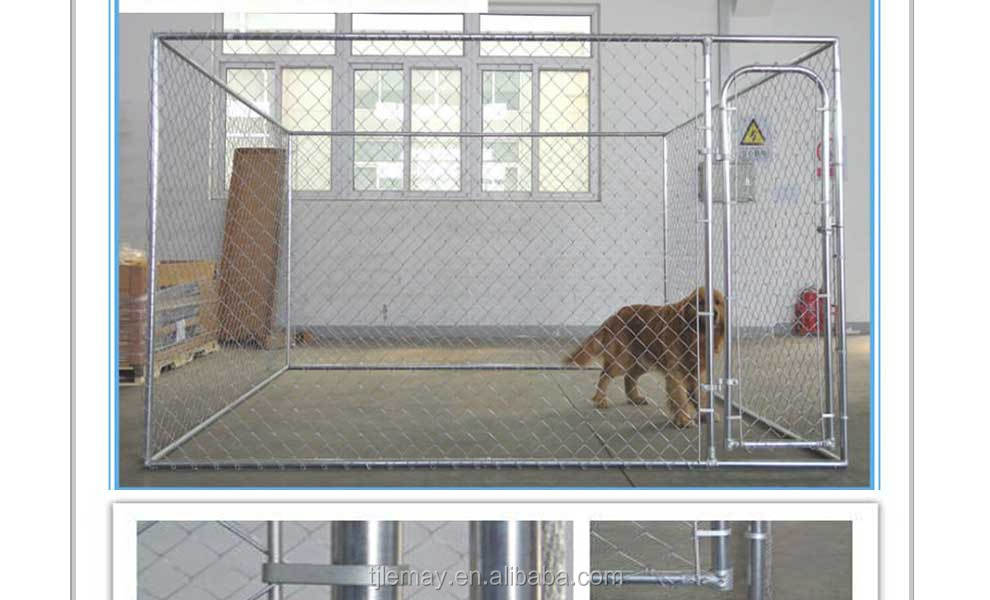 Hot sale 10x10x6ft large outdoor chain link galvanized steel dog kennel