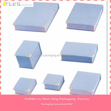printing cardboard jewellery boxs fancy paper lid and base paper jewelry box