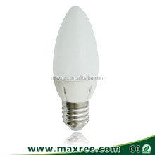 SMD led candle light bulb 3W plastic 220-240v chandelier led candle bulb e14, led candle bulb e27