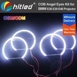 Xenon Style White 131mm COB LED Halo Ring Angel Eyes for BMW E46 Facelift