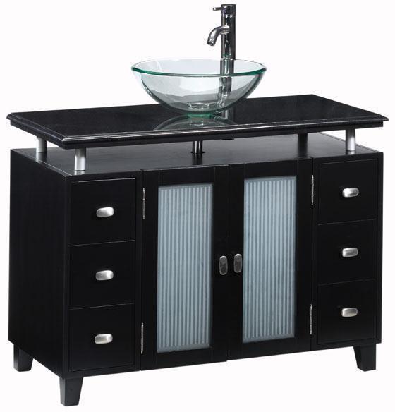 crazy sale wooden bathroom vanity cabinet with glass bowel sink buy