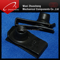 carbon steel zinc plated M6 u type clip nuts