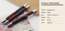2015 Paypal accept Double-end metal ball pen with logo high quality metal pen