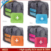 Plus size collapsible travel luggage bags 4 Color collapsible duffel tote shoulder pouch waterproof