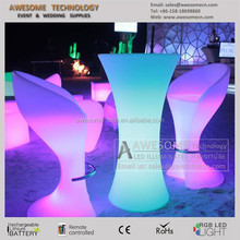led illuminated portable high coffee cocktail bar table