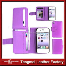 wallet cover For Apple iPhone 5 Magnetic Flip Cover Stand Wallet pu Leather Case