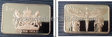 Hot Sales of custom 1 OZ Royal Lion and Unicorn Gold Bar