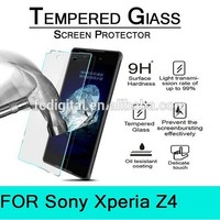 2015 new design 0.3mm 9h anti-scratch tempered new top screen protector for Sony Z4 factory price for sale