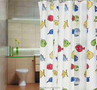 Cartoon tropical fish hotel quality shower curtain walmart bathroom shower curtains