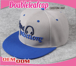 2015 Wholesale hot sell embroider acrylic custom snapback hats