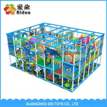 Provide Installtion Professional design LLDPE plastic commercial used indoor playground equipment swing 69sqm