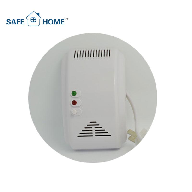 Cocina automatización Ac220V auto detectar Ch4 gas glp sensor, certificación CE pared LPG detector de fugas de gas alarma