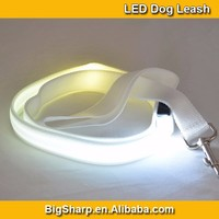 20pcs Wholesale Double LED Leash Nylon Two Sides Light LED Dog Leash Flashing Leads DL2504