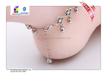 High Quality Women Silver Bead Chain Anklet Ankle Bracelet Barefoot Sandal Beach Foot Jewelry
