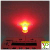 5mm flat top led white diffused red(RoHS &CE )