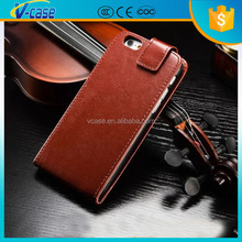 4.7 Inch Special design up and down rolling leather wallet phone cover case for iphone 6