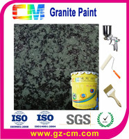 Restarant lead free durable decoration granite effect painting