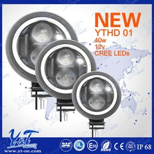 "40w 7"" Auto Parts light r Excellent qualit Luminate supper light bar,offroad headlight round light for car"