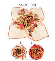 SA429 194 100% silk chiffon scarf islamic clothing 100% silk hijab shawl and scarves supplier alibaba china