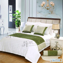 European style comfortable bed runner ,durable bed linen,hotel use bed throw and cushion cover