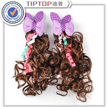 2015 Fashion Girl's Hair Accessories Bobby Pins Plastic Hair Wigs Brown