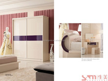 white sliding door modern glass wardrobe