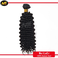 Queen like brazilian hair tangle free deep wave 20 inch virgin remy Brazilian hair weft