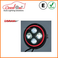 Qeedon black or chrome with DRL motorcycle led projector headlights for harley davidson